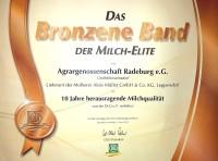 DLG-Auszeichnung 'Das Bronzene Band der Milch-Elite'