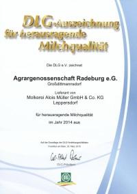 DLG-Auszeichnung für herausragende Milchqualität
